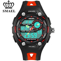 SMAEL Cute Kids Watches Children Fashion Sports Multifunctional Quartz Reloj Waterproof Wristwatches Boy Digital LED Watch