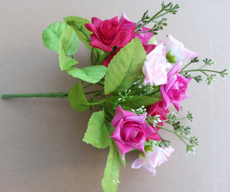 Rose flower arrangements home decor artificial decorative flowers rose flower arrangements home decor artificial decorative flowers bridal bouquets cheap flower delivery silk flower in artificial dried flowers from home mightylinksfo