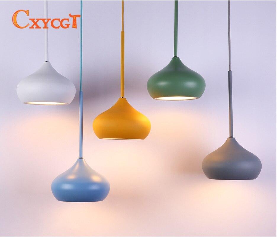 1 Pc Lampes Suspendues Led Plusieurs Couleurs Salle à Manger Salon Lampe Suspendue Lampes Suspendues Décoration D'intérieur Suspension Luminaire