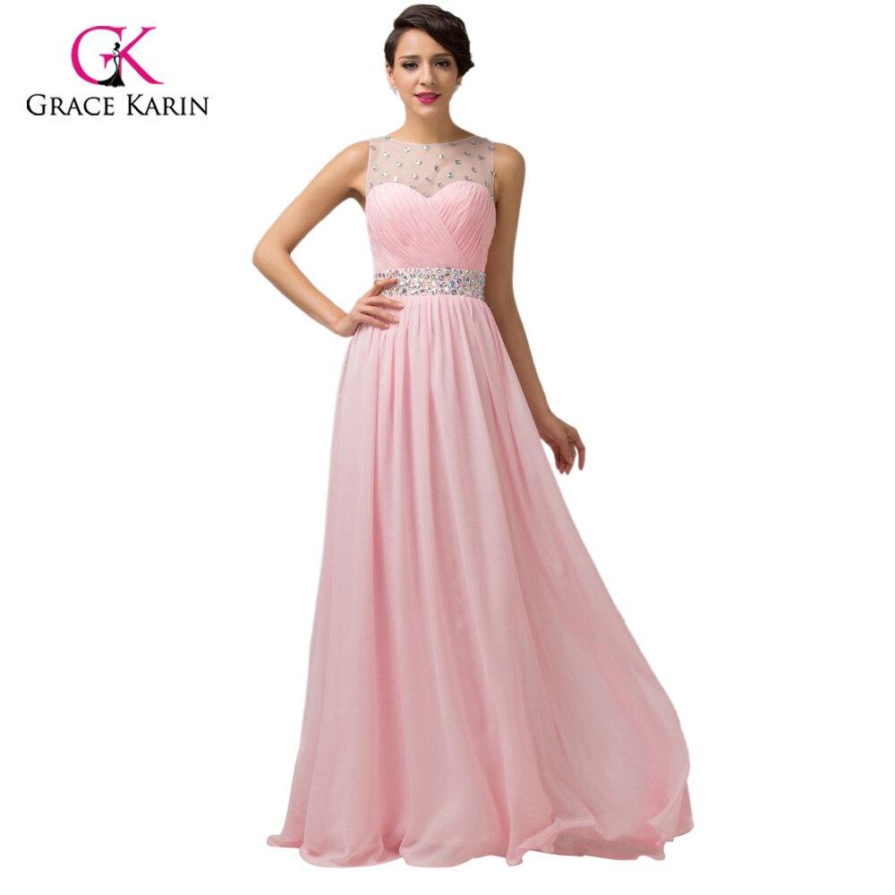 Grace Karin barato rosa púrpura Vestidos de dama de honor bajo $50 ...