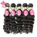 Queen Hair Products Peruvian Virgin Hair More Wave Curly Human Hair 5pcs/Lot Unprocessed Grade 8A Top Quality Natural Color
