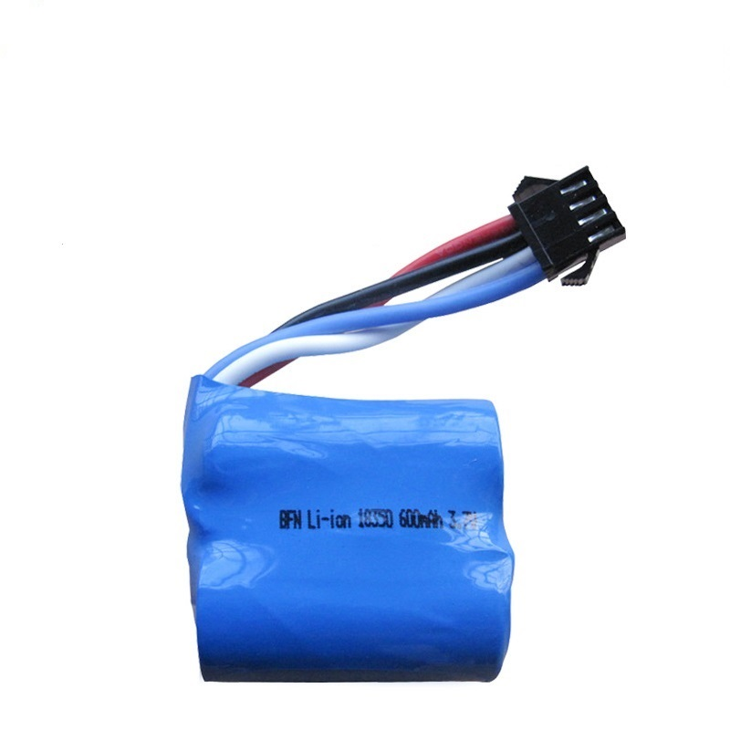 3.7v <font><b>600mAH</b></font> 18350 15c <font><b>Lipo</b></font> <font><b>Battery</b></font> For UDI001 UDI 001 RC Boat genuine momentum of cylindrical <font><b>7.4v</b></font> ( 3.7v*2 )<font><b>lipo</b></font> <font><b>battery</b></font> image