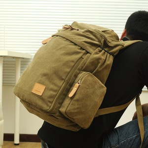 Image 5 - Large Capacity Men Vintage Travel Climb Laptop Backpack Wash Canvas Backpack Male Retro Casual Rucksack Teenagers School Bags
