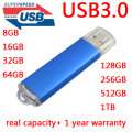 15-130MB/S Read High Speed USB 3.0 Flash Drive 128GB 16GB 32GB 64GB 1 Year Warranty Pen Drive Memory Stitck Pendrive 256GB 1/2TB