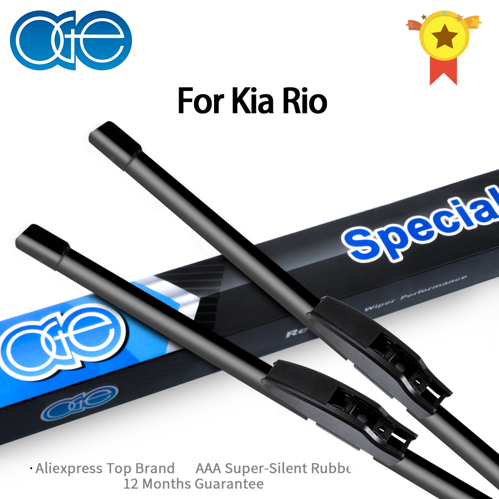 OGE Wiper Blades For <font><b>KIA</b></font> <font><b>Rio</b></font> DC / JB / UB Fit Hook Arms From 2000 to 2017 image