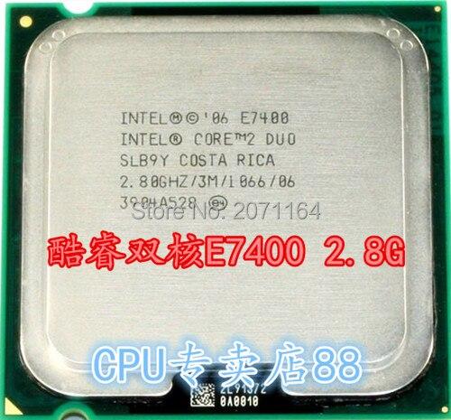 Бесплатная доставка для Intel Core 2 Duo E7400 2.8 Г 775 pin настольный компьютер CPU