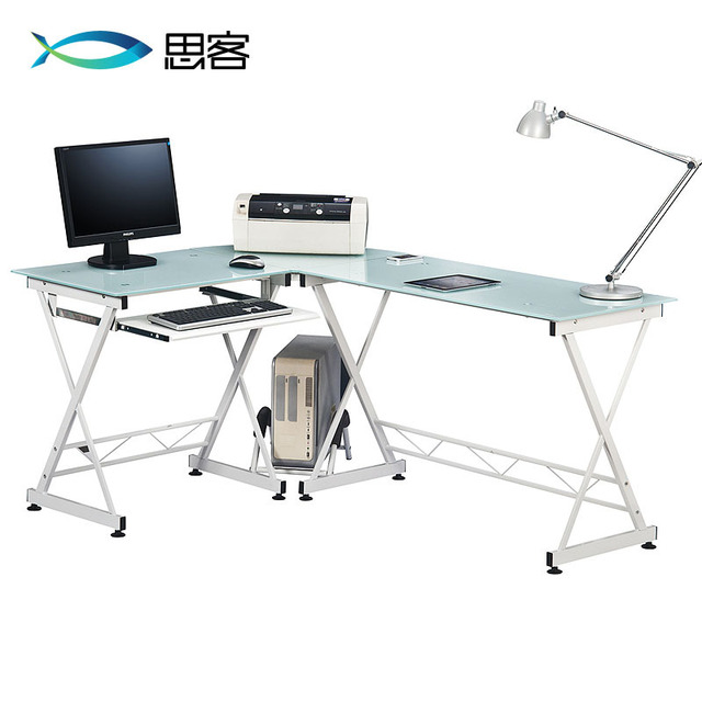 Charmant Best Off Modern Minimalist Glass Desk IKEA Home Office Computer Desk Corner  Desk Environment
