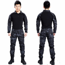 Paintball tactical camouflage military uniform combat suit clothing for hunter and fishing shirt pants