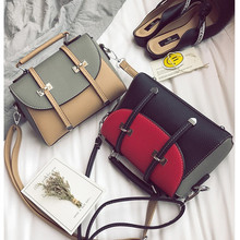 2019 new collision color splice female bag simple handbag single shoulder crossbody bags