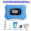 De calidad superior 3G mobile amplificador de señal de 2100 mhz repetidor de la señal, 3G celular amplificador de señal con la Exhibición del LCD con kit Yagi