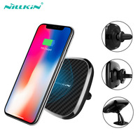 NILLKIN Car Wireless Charger For Huawei P30 Mate 20 Pro Magnetic Phone Holder Pad For Xiaomi Mi 9 Mix 3 2s 10W Qi Fast Chargers