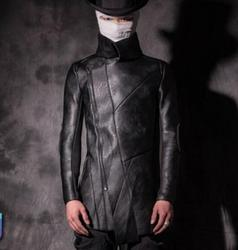 S-2XL!! Männlichen mode winter leder motorradbekleidung schlank personalisierten thermische plus samt oberbekleidung kostüm