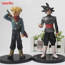 Hot Anime Dragon Ball Super Figurine THE SUPER SAIYAN WARRIORS Trunks v son Goku-black pvc Figure Model Toys