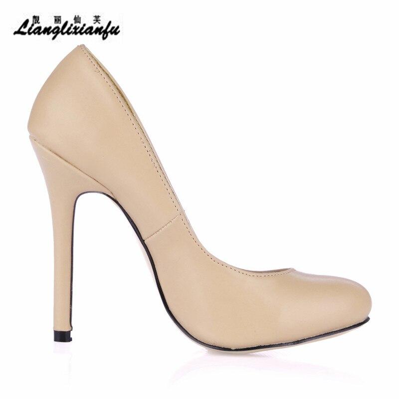 Chaussures Noir Cm Femelle 35 12 Zapatos Hauts Crossdresser Pompes Bout Stiletto Mince Pointu Llxf De 41 kaki Femmes 42 Mariage Dames À Talons Plus 43 vqfXHxZg