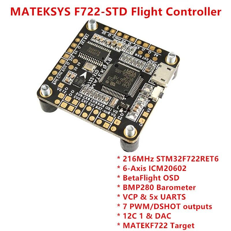 MATEKSYS F722-STD STM32F722 Flight Controller Betaflight OSD BMP280 Barometer 7 PWM/DSHOT Outputs BlackBox MicroSD for RC Drones xdevice blackbox 48 в новосибирске