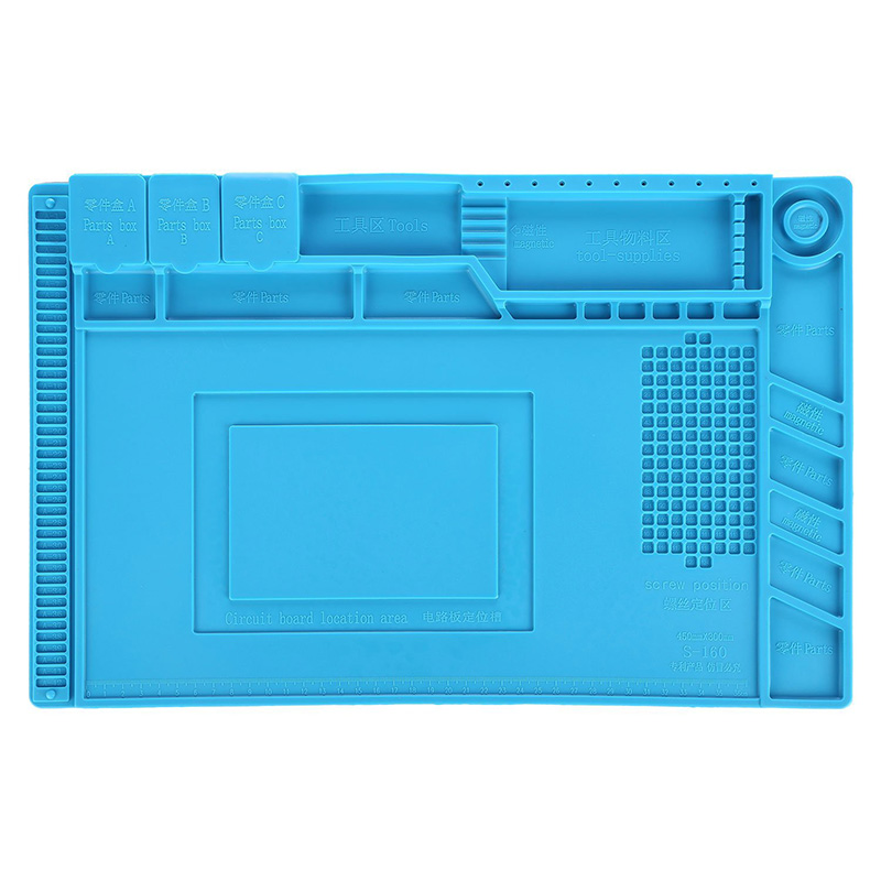 ATTEN Magnetic Silicone Pad Heat Gun Soldering Platform Desk Mobile Phone Repair Mat for Watch Tool