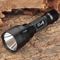 C8 650lm 5 Mode White Light Flashlight XR E Q5 LED Flashlight Torch 1 X 18650