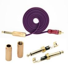 Premium Hummingbird Rotary RCA Cord Phono Plug Wire Tattoo Power Supply – Purple