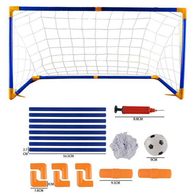 118cm Large Size Portable Folding Children Football Net Door Sports Toys Set Football Gate Soccer Inflator