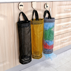 Dropshipping Home Grocery Storage Bag Holder Wall Hanging Bag Kitchen Storage Bag Dispenser Plastic Kitchen Organizer
