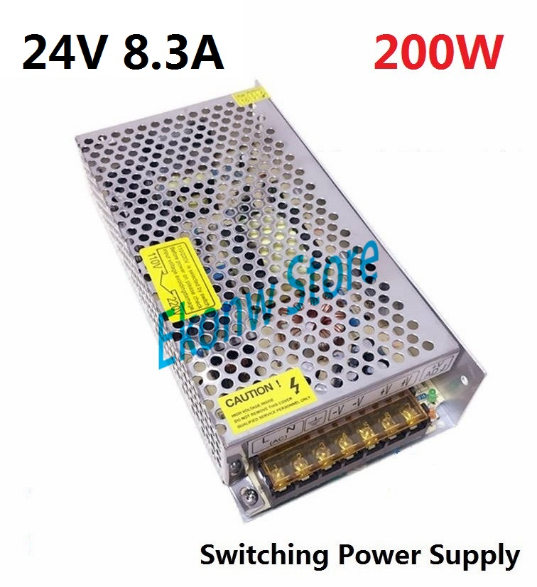 200W 24V 8A Switching Power Supply Factory Outlet SMPS Driver AC110-220V to DC24V Transformer for LED Strip Light Module Display best quality 12v 15a 180w switching power supply driver for led strip ac 100 240v input to dc 12v