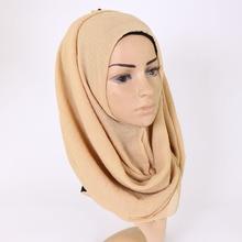 Autumn Winter Luxury Muslim Women Headscarf Soft Female Large Size Scarf Cotton Linen Shawl
