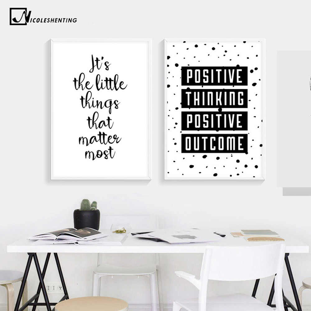 Inspirational Simple Quotes Motivational Poster Prints Black White Wall Art Canvas Painting Education Picture Modern Home Decor Canvas Painting Poster Printwall Art Aliexpress