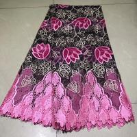 5yards african velvet lace fabric popular african net tulle lace fabric with velvet cloth for women party dress NLYJUL035