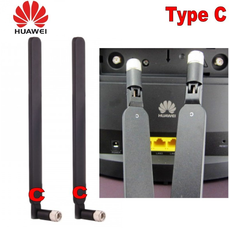 GENUINES Huawei  B525 Antenna Pair 2X External Antenna Original Type C (Router Not Included)