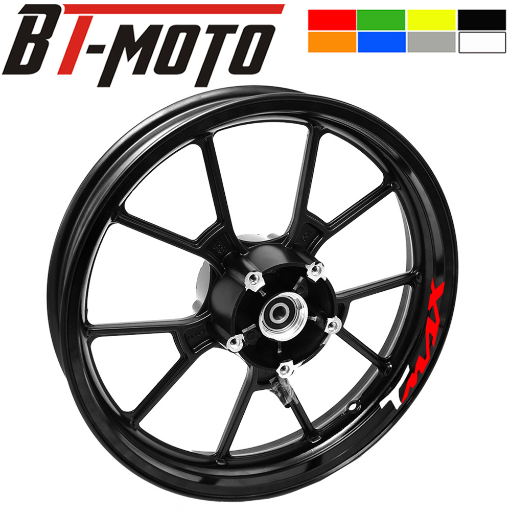 New Motorcycle Wheel <font><b>Sticker</b></font> stripe Reflective Rim For <font><b>Yamaha</b></font> TMAX XMAX <font><b>NMAX</b></font> VMAX tmax xmax <font><b>nmax</b></font> vmax logo image