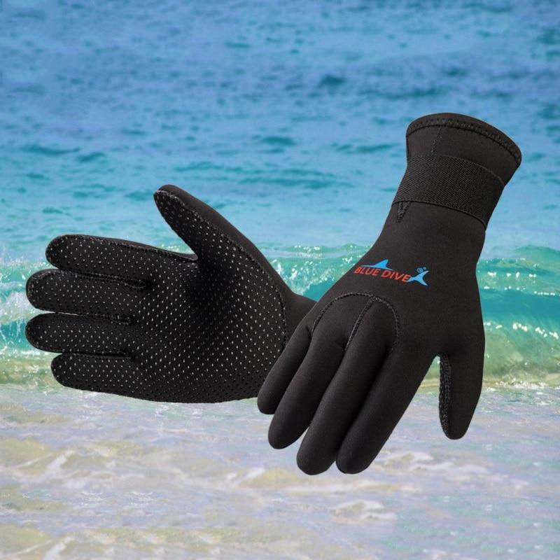 1 Pair Unisex Swim Neoprene Diving Gloves Anti-slip Warm Wetsuit Gloves Snorkeling Surfing Gloves Water Sports Accessories