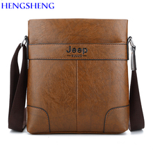HENGSHENG Newly design JEEP leather men shoulder bag with single shoulder male messenger bag of pu leather business men bag