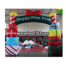 цена на 6m wide inflatable christmas arch outdoor merry christmas archway inflatable christmas decoration for New Year