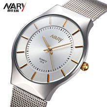 Top Brand NARY Women Watches Ultra Thin Stainless Steel Band Casual Ladies Quartz watch Luxury Wristwatches
