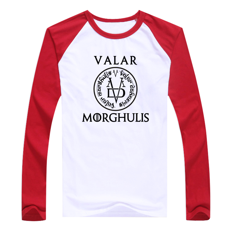 Game of Thrones Valar Morghulis Long Sleeve T Shirt