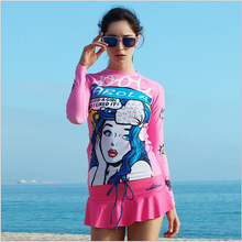 SABOLAY Surf quick-drying clothing suit skirt female beach clothes suit protect hurt by jellyfish and sunshine