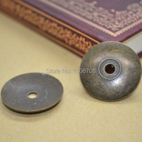 Comercio al por mayor 50 unids/lote antique metal de aleación de bronce redondo