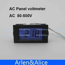 Pantalla LCD rango de metro del Voltaje del voltímetro AC 80-500 V Monitor de Panel de luz de fondo azul