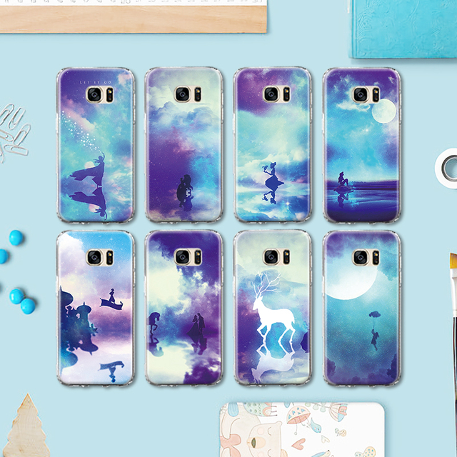 Us 2 35 Abstract Art Unicorn Dragonfly Girl Pattern Tpu Phone Case For Samsung Galaxy S4 S5 Mini S6 S7 Edge Plus S8 Note 4 5 G530 Case في Abstract