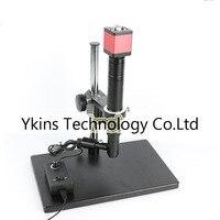720p 13MP VGA HDMI Video Microscope Camera +1000X Zoom Coaxial Light Monocular C mount Lens+Focusing Lifting Bracket Stand