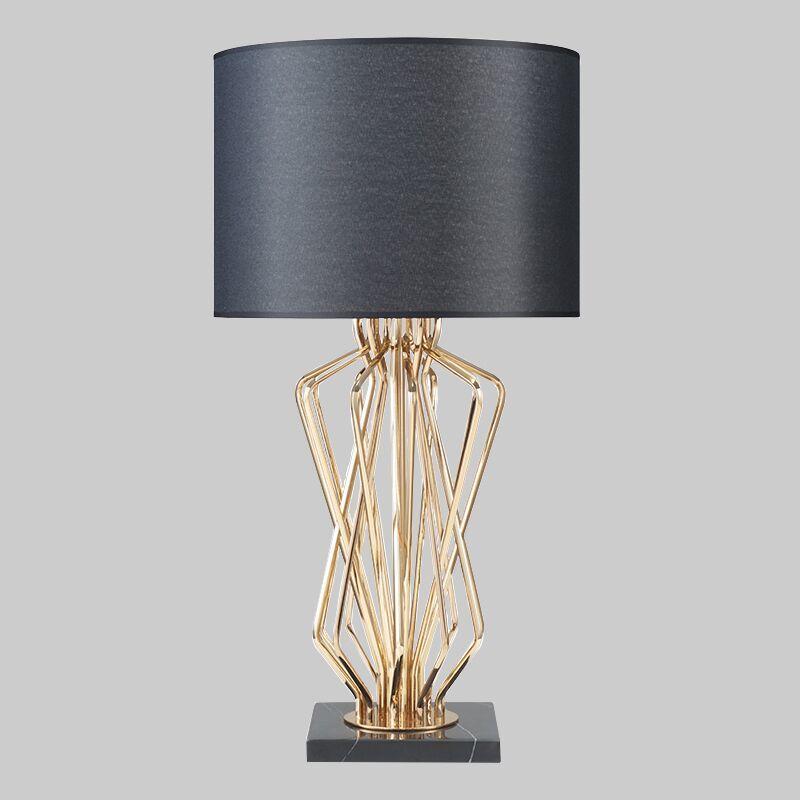 Современная настольная лампа для Гостиная современная настольная лампа ночники lampara де меса металлическое покрытие настольная лампа дизай...