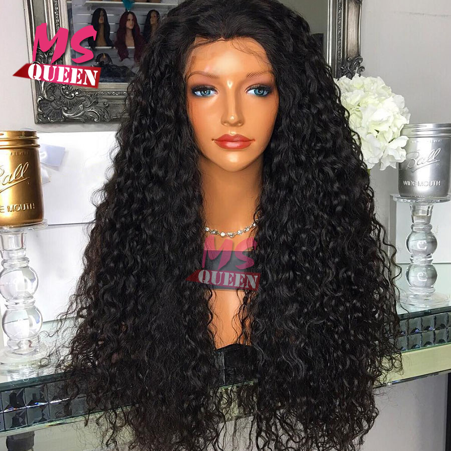 0743aa1ba Loose Curly Black Synthetic Lace Front Wig With Baby Hair Thick Full Head Heat  Resistant Synthetic Wigs For Black Women In Stock