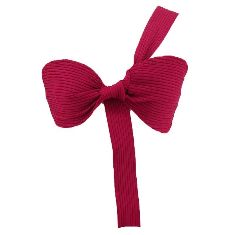 Mode Sexy femmes Bodcyon haut bandeau vin rouge noir rayonne tricoté une épaule soirée Club fête été débardeur vestido - 5