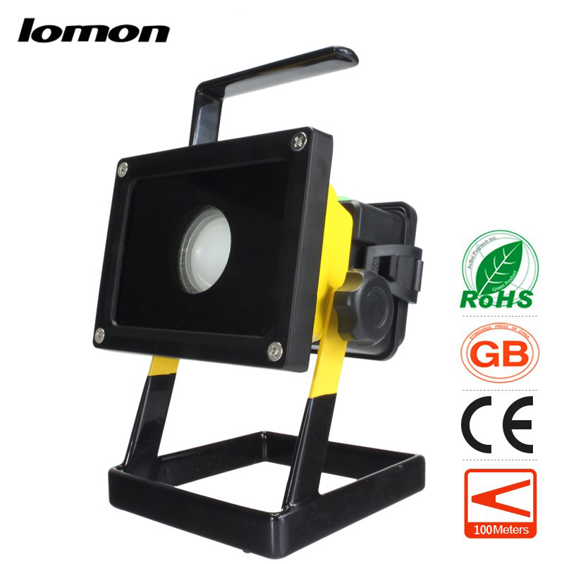 ФОТО Ground Lamp 50W L2 Rechargeable LED Floodlight SPOTLIGHT Handle Emergency Flashlight Mobile Outdoor Camping Light Hiking Lamp