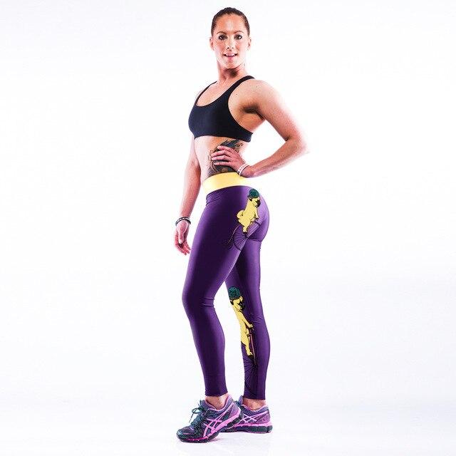 3D dog print elastic fashion leggings yuga   pants hot body girl  sweat long panties