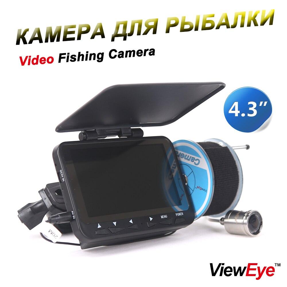 ViewEye Original 4 3 20M Fish Finder 1000TVL Underwater Fishing Camera Fishfinder Infrared lamp IR LED