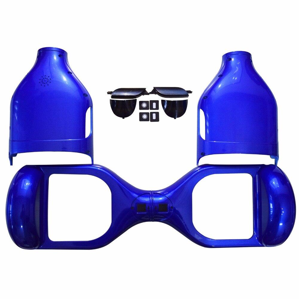 """Prix pour 6.5 """"Hoverboard En Plastique Shell Cas Couverture avec LED Lumière Shell Ensemble 6.5 Pouce 2 Roues Auto-Équilibrage Scooter Électrique Shell bleu"""