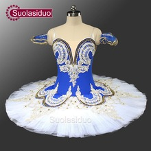Adult Blue Bird Ballet Professional Stage Tutu And White Classical Performance Costume Customized SD0028