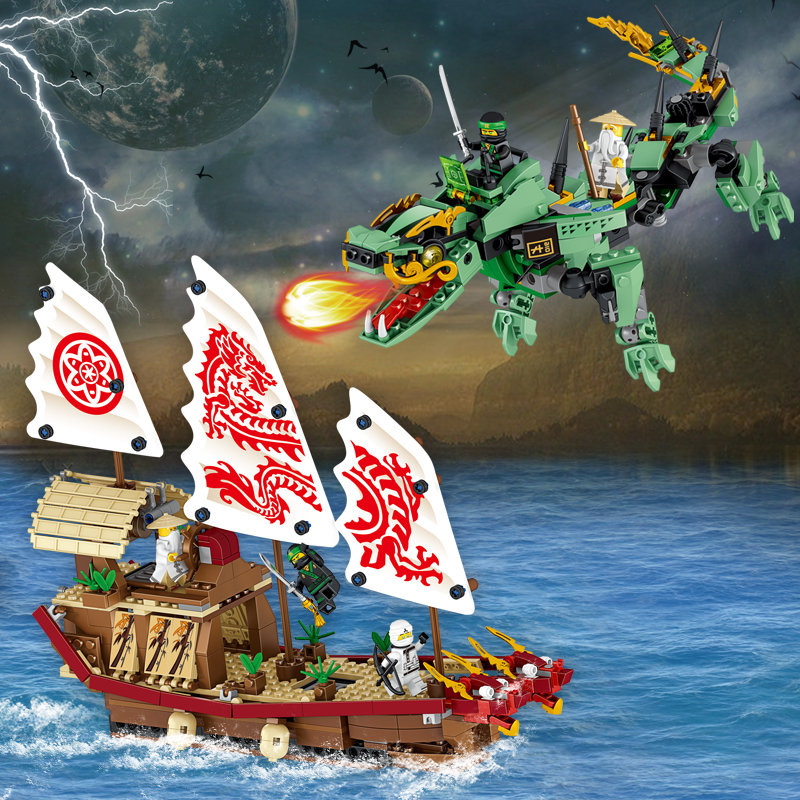 753 Pieces Educational Building Blocks Toys For Children Gifts Pirate Hero Ninja Dragon Mech Ship Weapon Compatible with Legoe hot sale 1000g dynamic amazing diy educational toys no mess indoor magic play sand children toys mars space sand