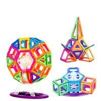 78 pcs Mag Building Magnetic Constructor Set Block Designer Building Models Toy Enlighten Plastic Kits Educational for Kids